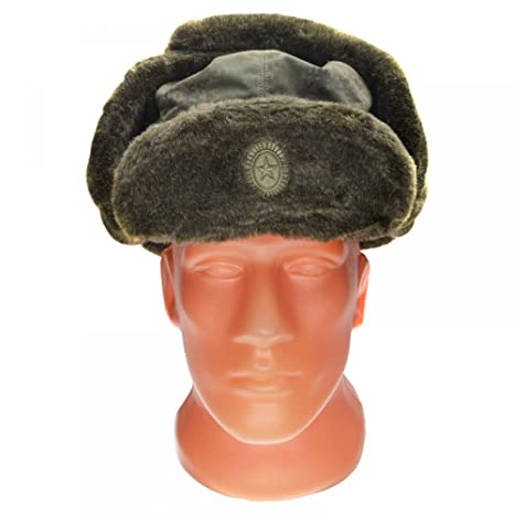 Amazon.com  Russian Military VKBO Winter Ushanka Hat by BTK Group ... e4a9b3a9af8