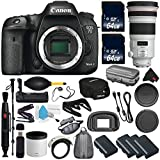 6Ave Canon EOS 7D Mark II DSLR Camera International version (No Warranty) + Canon EF 300mm f/2.8L IS II USM Lens + Battery Grip Wildlife and Sports Photography Bundle
