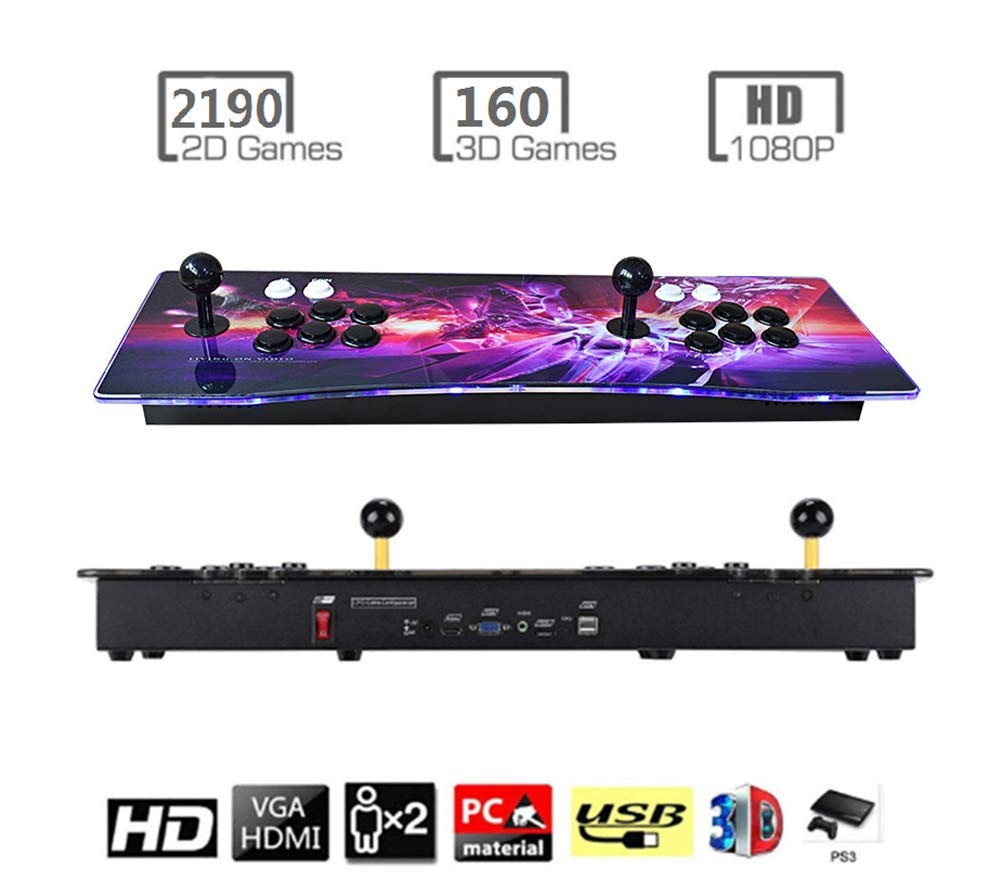 Haberman 2350 in 1 Arcade Game Console 1080P, 3D & 2D Games, 2 Players Arcade Game Machine with Arcade Joystick for Home, Support Expand 10000+ Games (Console×1)