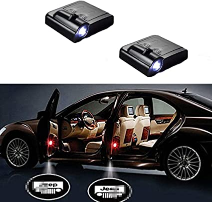Upgraded No Magnet MIVISO 2019 2PCS Car Door Led Logo Projector Light Wireless Lamp Welcome Ghost Shadow Light