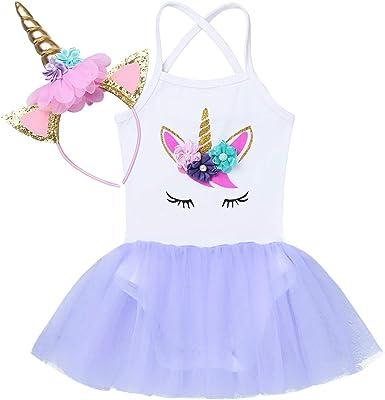 iiniim Vestido Unicornio Princesa para Bebe Niña Diadema Tutú ...