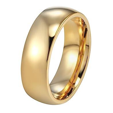 PROSTEEL - 6mm Anillo Clásico del Estilo Sencillo de Acero Inoxidable para Hombre y Mujer Anillo de Matrimonio Anillo de Compromiso Talla 9.5-30: Amazon.es: ...