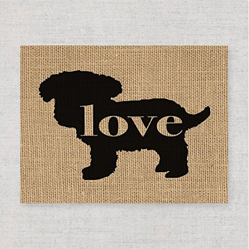Teacup/Toy Poodle Love: An Unframed 8x10 Dog Breed Wall Art Print on Your Choice of Fine art Paper or Laminated Burlap (Can be Personalized)