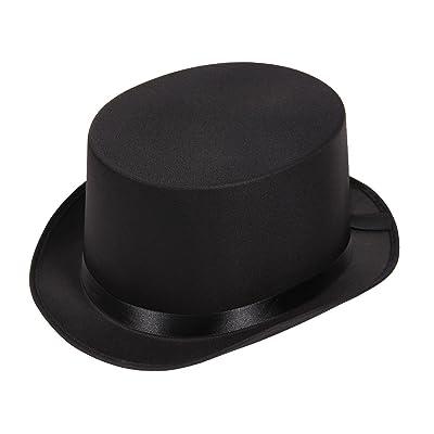 Chapeau haut de forme magicien rocambole Gibus Vague Carnaval accéssoire Déguisement Fêtes fin d'année Conscrit Cocher Bourgeois Taille unique pour Adulte homme femme soirée à theme d&