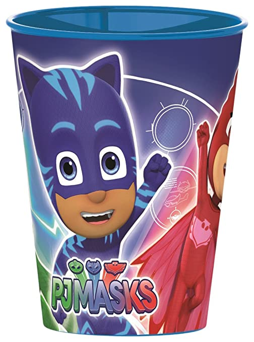 BBS PJ Masks Vaso, Plástico y Polipropileno, Azul y Rojo, 7.5x7.