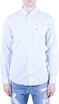 Tommy Hilfiger Slim Fil Stripe Shirt Camiseta para Hombre