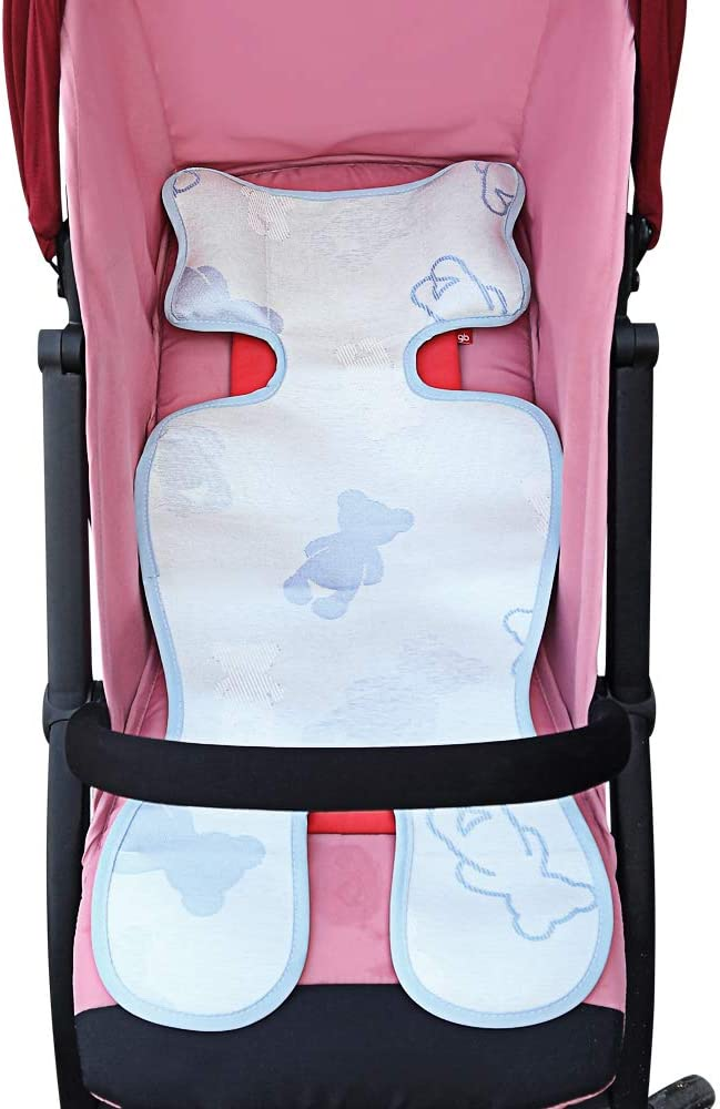 Ice Silk Seat Pad Liner for Baby Stroller and Car Seat Baby Stroller Cooling Seat Pad Breathable Child Safety Cart Mat Ice Silk Cushion Non-Toxic Safe for Kids Pink Yeakoo Baby Summer Stroller Car Seat Liner