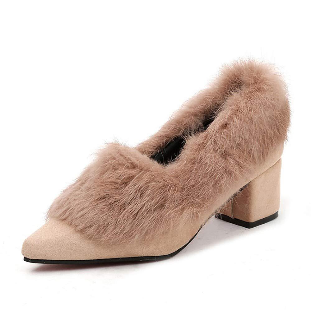 UENGF High Heel Damenschuhe High Heel Herbst Winter Shallow Schuhe Frau Pumpt Elegante Abendschuhe