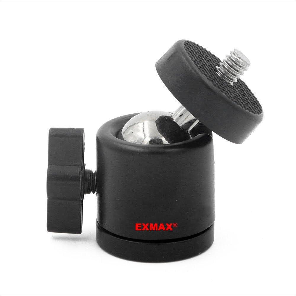 EXMAX 1//4 3//8 Tripod Mini Ball Head for DSLR Camera Camcorder Light Bracket 360 Degree Swivel