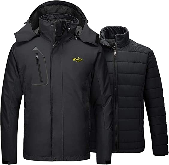 YYG Mens Slim Hooded Zip Up Winter Thicken Down Quilted Jacket Coat Outwear
