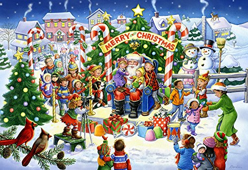 Vermont Christmas Company Smile for Santa Kids Jigsaw Puzzle 100 Piece