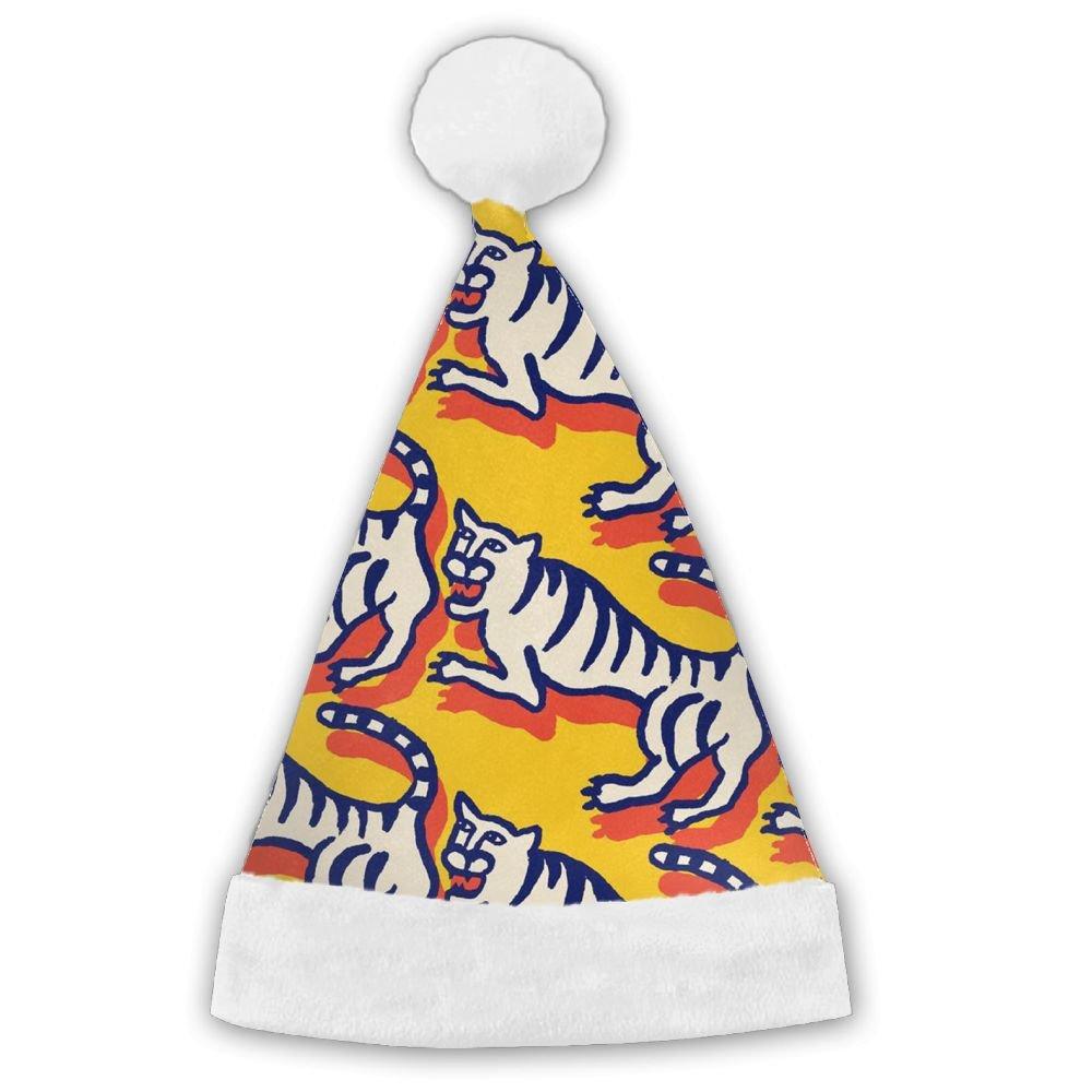 ChengGo Tiger Animal Personalization Santa Hat  Lightweight For Boy Elf Christmas Headwear Weekend