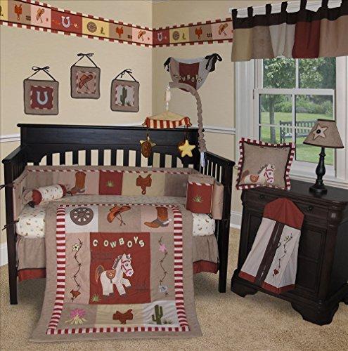 SISI Baby Bedding -Western Cowboy 14 PCS Crib Bedding Set...