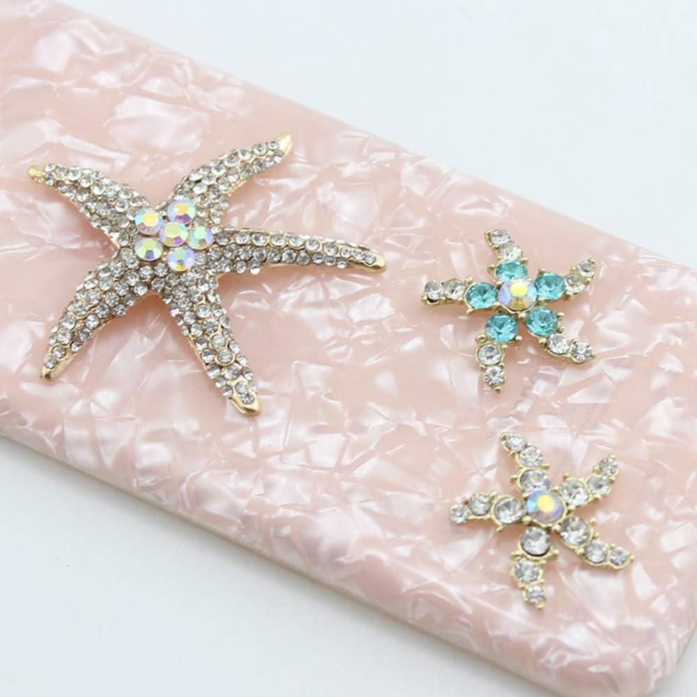 Ogquaton Accessoires de v/êtements de corsage sauvage en broche de cristal en alliage d/étoile /à cinq branches en argent en broche /étoile de mer