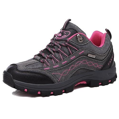 KAMIXIN Scarpe da Escursionismo Donna Scarpe da Trekking All aperto  Sneakers Scarpe da Arrampicata Stivali ba040de7202