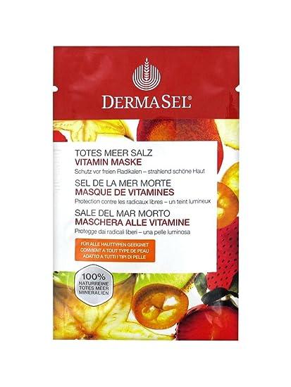 DermaSel sal de baño Spa del Mar Muerto vitamina máscara 12 ml