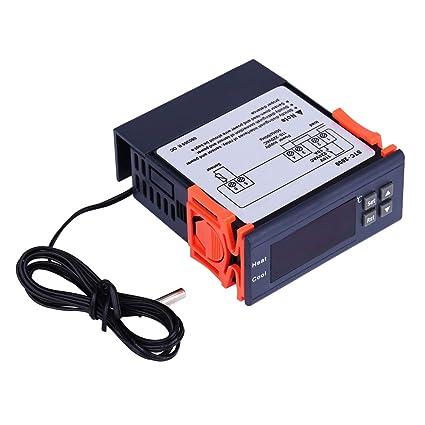 Termostato - Controlador de temperatura digital Ac 110v-220v, modos de calor y frío