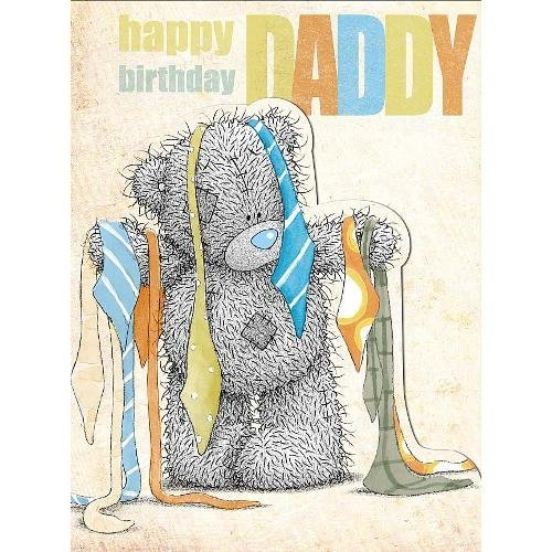 Daddy Birthday Large Me to You Bear Card