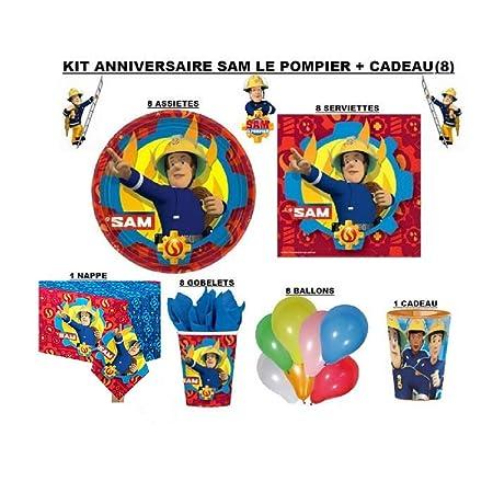 Générique Kit cumpleaños SAM el bombero + regalo: Amazon.es ...