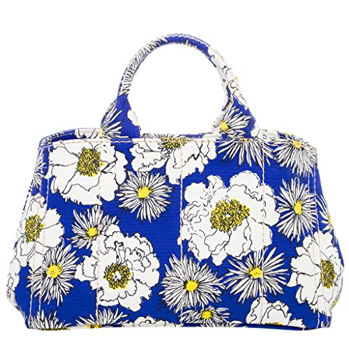 Prada Women's Floral Printed Canvas Tote (Prada Canvas Handbag)
