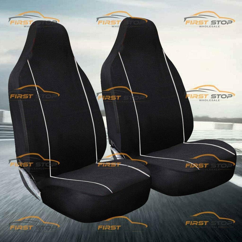 FSW HD1+1 Black Heavy Duty Waterproof Car Black Seat Covers 1+1 Black HD1+1BLACK31 Fits: Alhambra Malaga Ibiza Marbella Leon Toledo Mii Exeo Cordoba Terra Altea