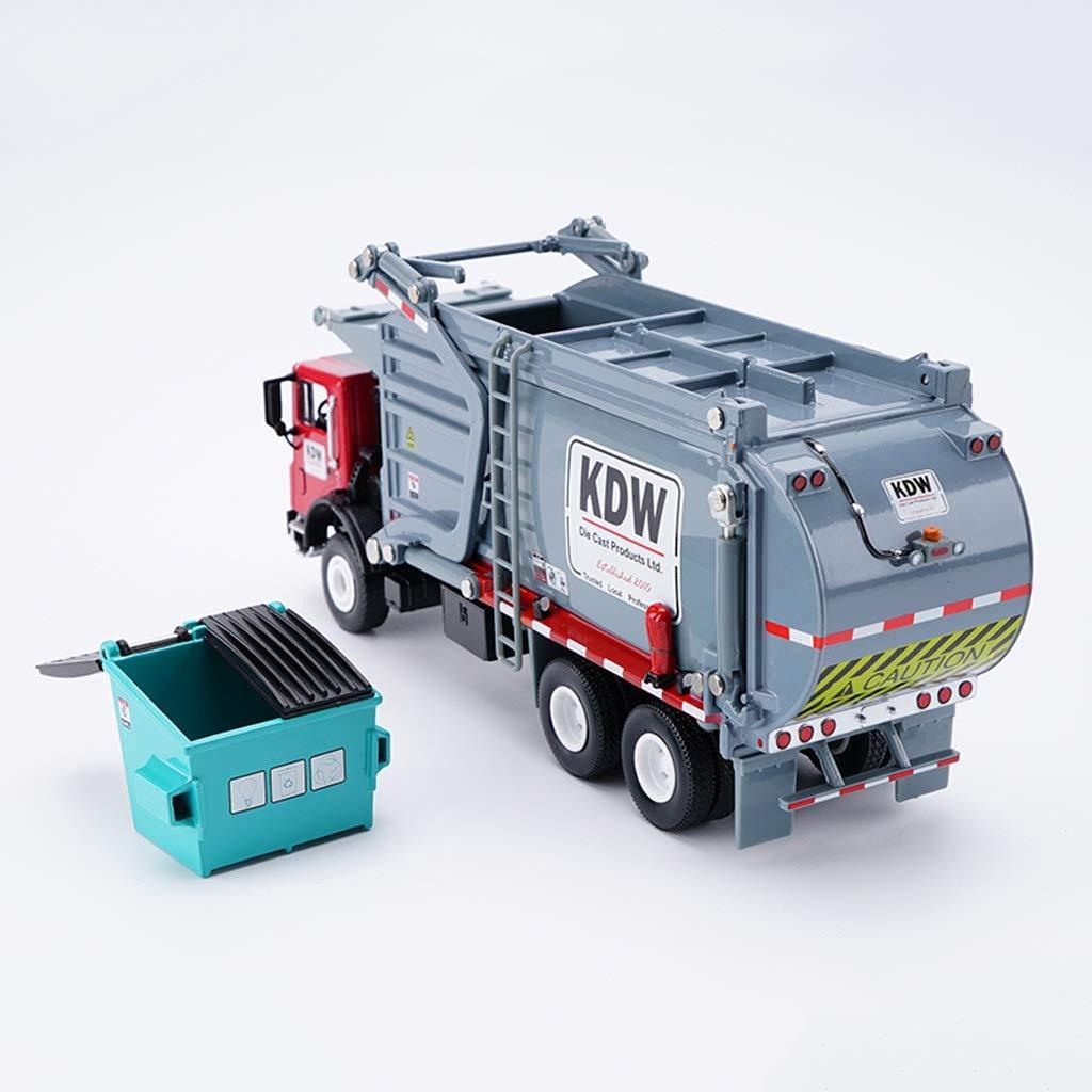 ventas al por mayor ZEQUAN Coches Modelo Fundido a Troquel, 1 24 camión de de de Basura Modelo de Coche de aleación de simulación de fundición a presión Juguete vehículo de ingeniería Modelo gris colección  perfecto