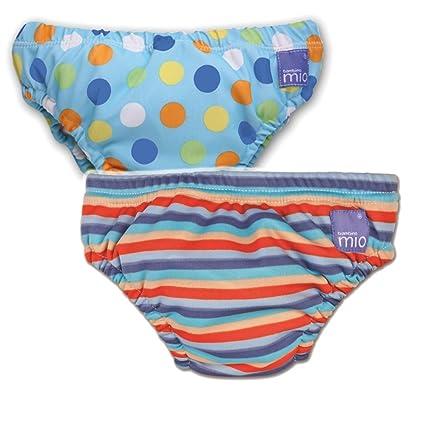 7ee8abece965 Vital Innovations Bambino Mio 2SWJXL-BS-OS - Pañal bañador, puntos azules y