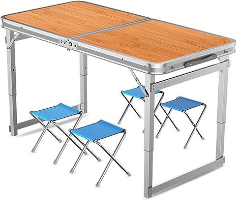 Tavolo Da Campeggio Con Sedie.Lw Outdoor Tavolo Da Picnic Tavolo Pieghevole Con Sedie Set Tavolo