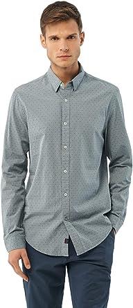 Salsa Camisa fit Slim con microprint: Amazon.es: Ropa y accesorios