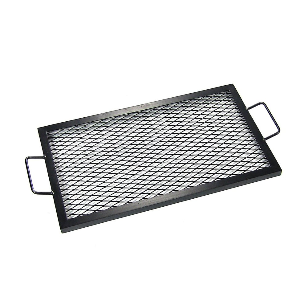 Sunnydaze X-Marks Fire Pit Cooking Grill Grate, Outdoor Rectangle BBQ Campfire Grill, Camping Cookware, 30 Inch Sunnydaze Decor 1506-RFCG-30
