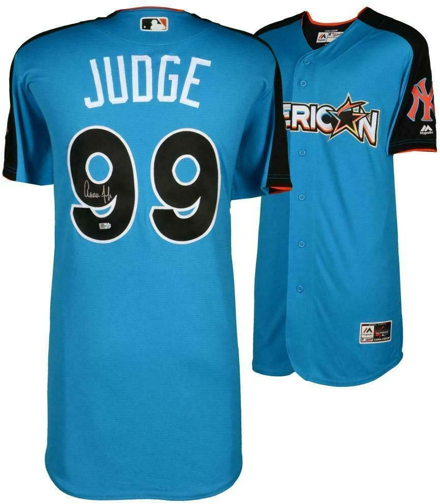 AARON JUDGE Autographed Yankees 2017 Home Run Derby Authentic Jersey FANATICS - Autographed MLB Jerseys