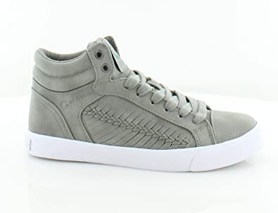 843694ad2 G By Guess Women s Olisa Hight Top Lace Up Fashion Sneakers Dark Gray Ll  5.5 B(M) US  Buy Online at Low Prices in India - Amazon.in