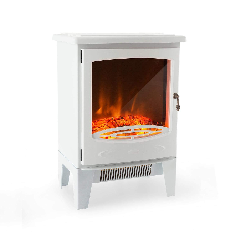 Klarstein Grenoble • elektrischer Kamin • E-Kamin • Kaminofen • Flammensimulation • 2000 W Leistung • zuschaltbarer Lüfter • Quarz-Heizstrahler • integriertes Thermostat • geräuscharm • unauff&aum