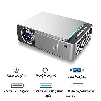 HLDUYIN Proyector Proyector LED 1080P HD Proyector De Oficina con ...