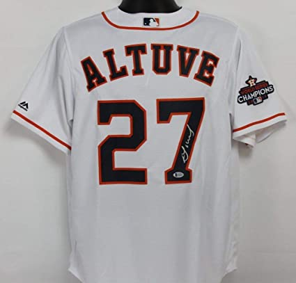 d156e642d16 Jose Altuve Autographed Signed Houston Astros White Jersey with Beckett  Authentic COA