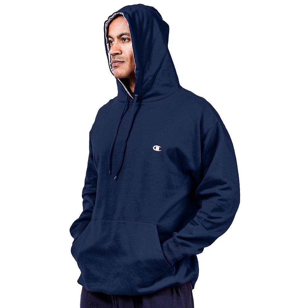 Champion Big & Tall Men's Pullover Fleece Hoodie Contrst Liner