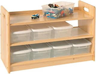 product image for Little Colorado Toy Organizer with Casters, Unfinished