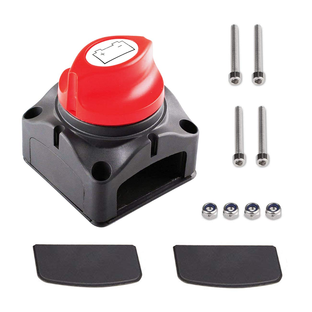 Momentary Rocker Toggle Switch 20A 125V 15A 250V SPDT 3 Terminal Pin ON/Off/ON DPDT Flick Metal Waterproof Cap Knob Pack of 3 by Wadoy 66-1850/66-5001