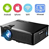 WiFi Mini Projector DIWUER 1500 Lumens LCD Video Projector Support HDMI USB SD AV VGA SD for Home Cinema Theater TV Laptop iPad iPhone Android Smartphone