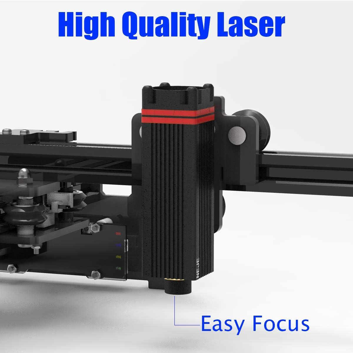 Laser Engraver 3500mW Portable Laser Engraving Machine Mini Carver Desktop Laser Engraver for DIY Laser Marking Art Craft Logo Mark Printer with Protective Glasses,Working Area 150x150mm