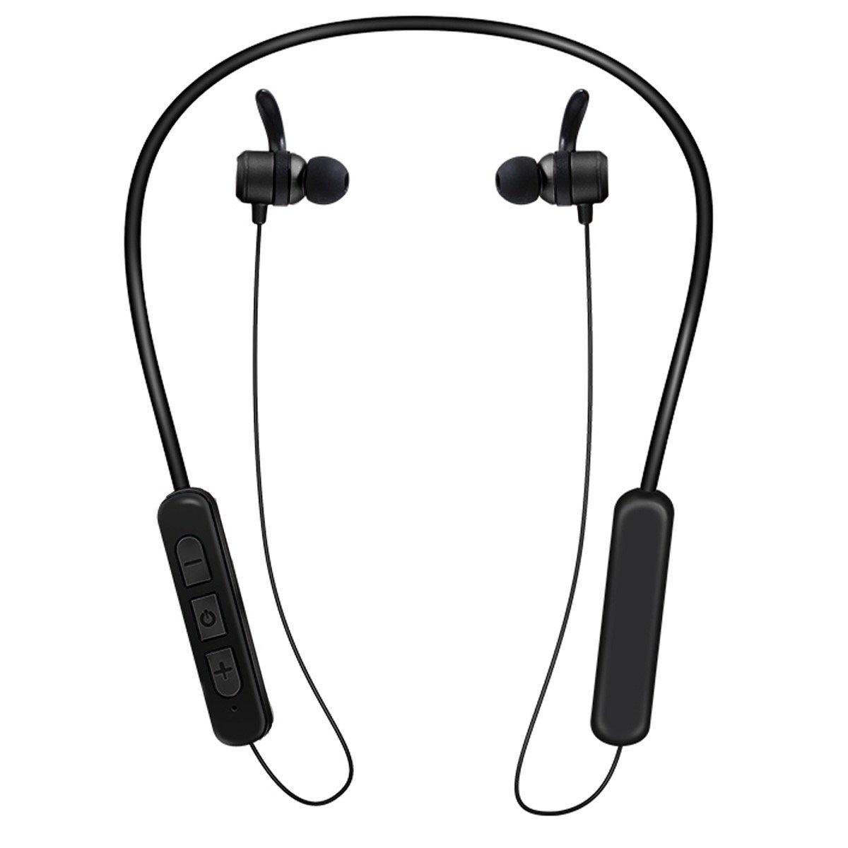 Bluetooth Headphones, Wireless V4.2 Magnetic Earphones, Sweatproof Sports Stereo in Ear Earbuds with Noice Reduction CVC6.0 KDK58 (Black)