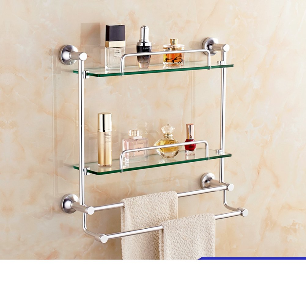 Bathroom racks/Glass space aluminium towel rail/Toilet wall hanging ...