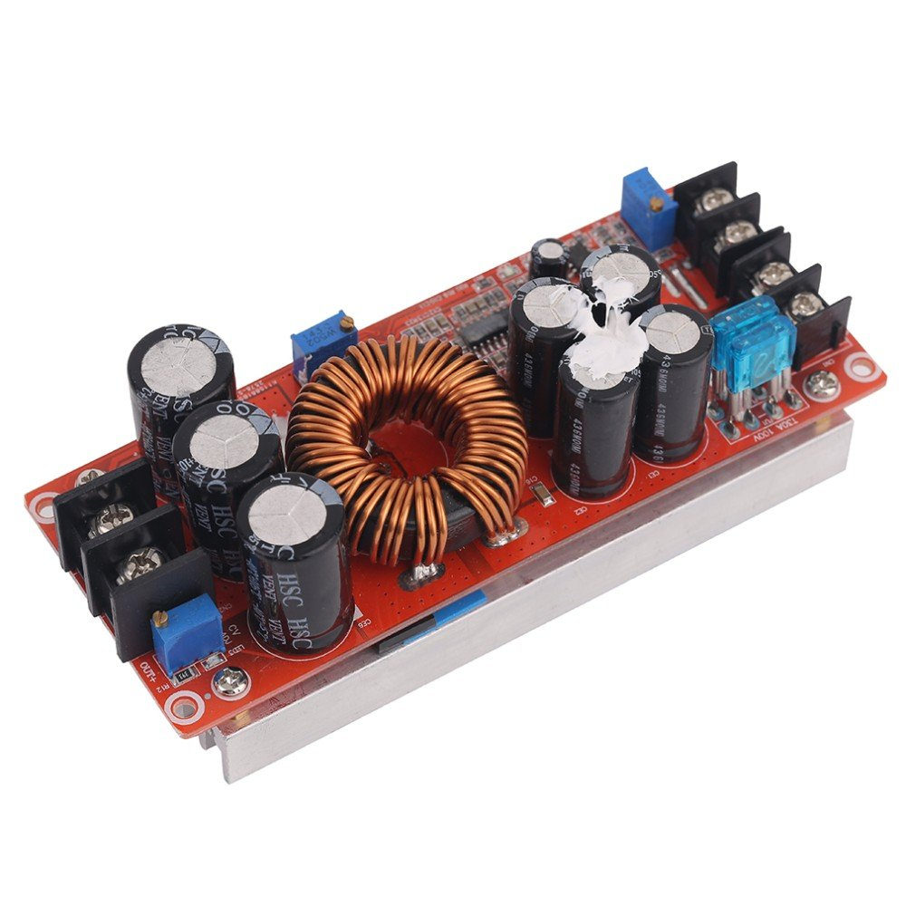 1200W DC-DC Boost Converter Power Supply 8-60V 12V Step Up to 12-83V 24V 48 With Large Heat Sink by Isguin