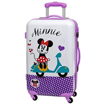Disney Minnie Vespa Maleta Mediana Rígida, Color Morado, 62 litros: Amazon.es: Equipaje