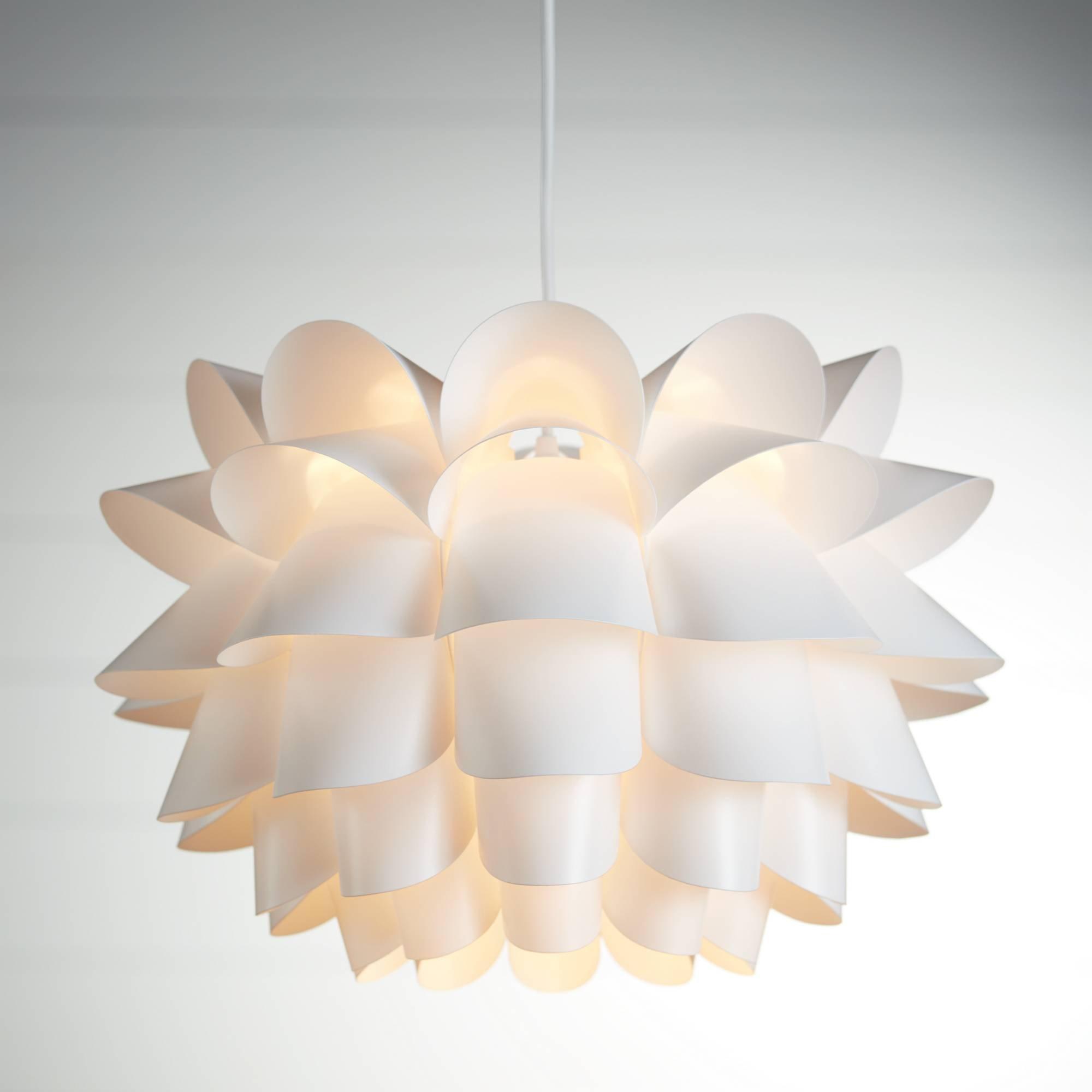 Possini Euro White Flower 19 1/2'' Wide Pendant Chandelier - Possini Euro Design