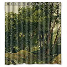 DebbieBrown Bathroom Curtains Of Beautiful Scenery Landscape Painting Polyester Width X Height / 72 X 72 Inches / W * H 180 By 180 Cm Best Fit For Him Lover Family Relatives Bf. Dries Quic