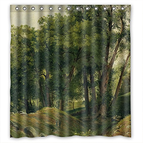 SUNSMILES Width X Height / 66 X 72 Inches / W H 168 By 180 Cm Polyester Beautiful Scenery Landscape Painting Shower Curtains Fabric Is Fit For Relatives Kids Boys Him Girls. Anti Bacteri