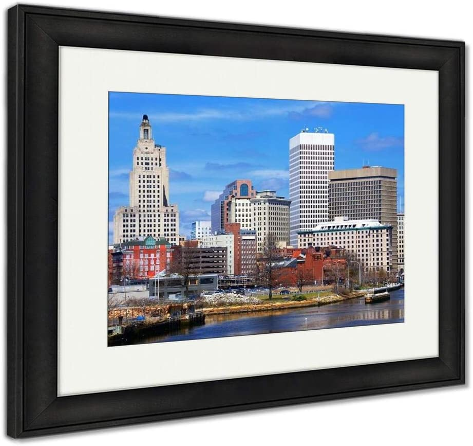 Amazon Com Ashley Framed Prints Providence Rhode Island Skyline Wall Art Home Decoration Color 34x40 Frame Size Black Frame Ag32508545 Posters Prints