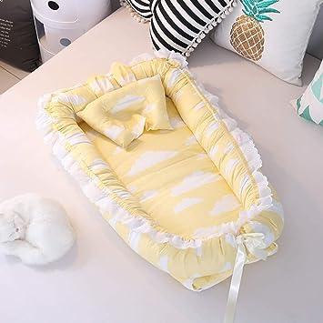 manta para beb/é plegable port/átil cubo Cuna para beb/é Kokon cuna de viaje amarillo Blaue Streifen almohada nido para beb/é
