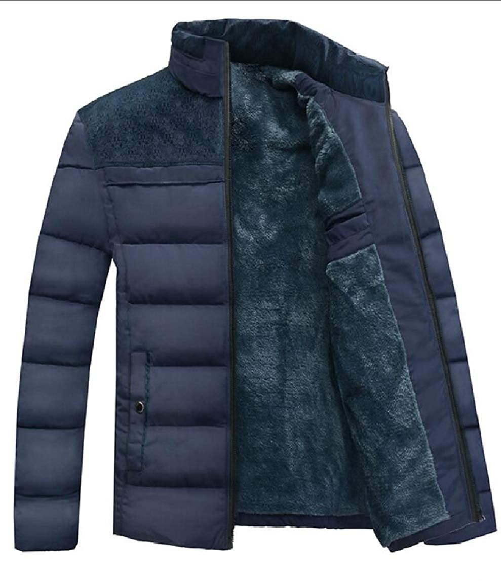 Yayu Mens Outwear Coat Faux Fur Lined Quilted Winter Coats Jacket